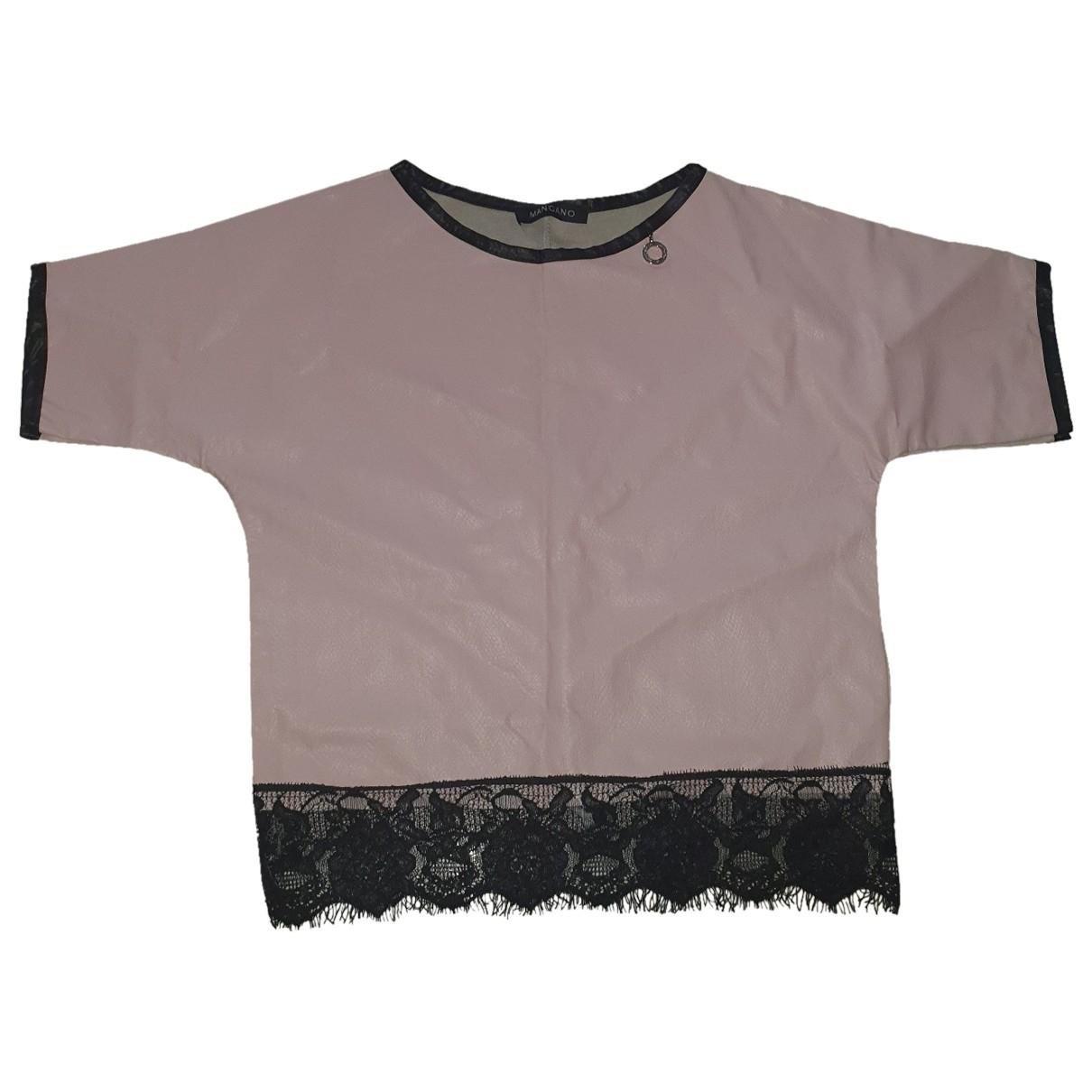 Mangano \N Top in  Rosa Polyester