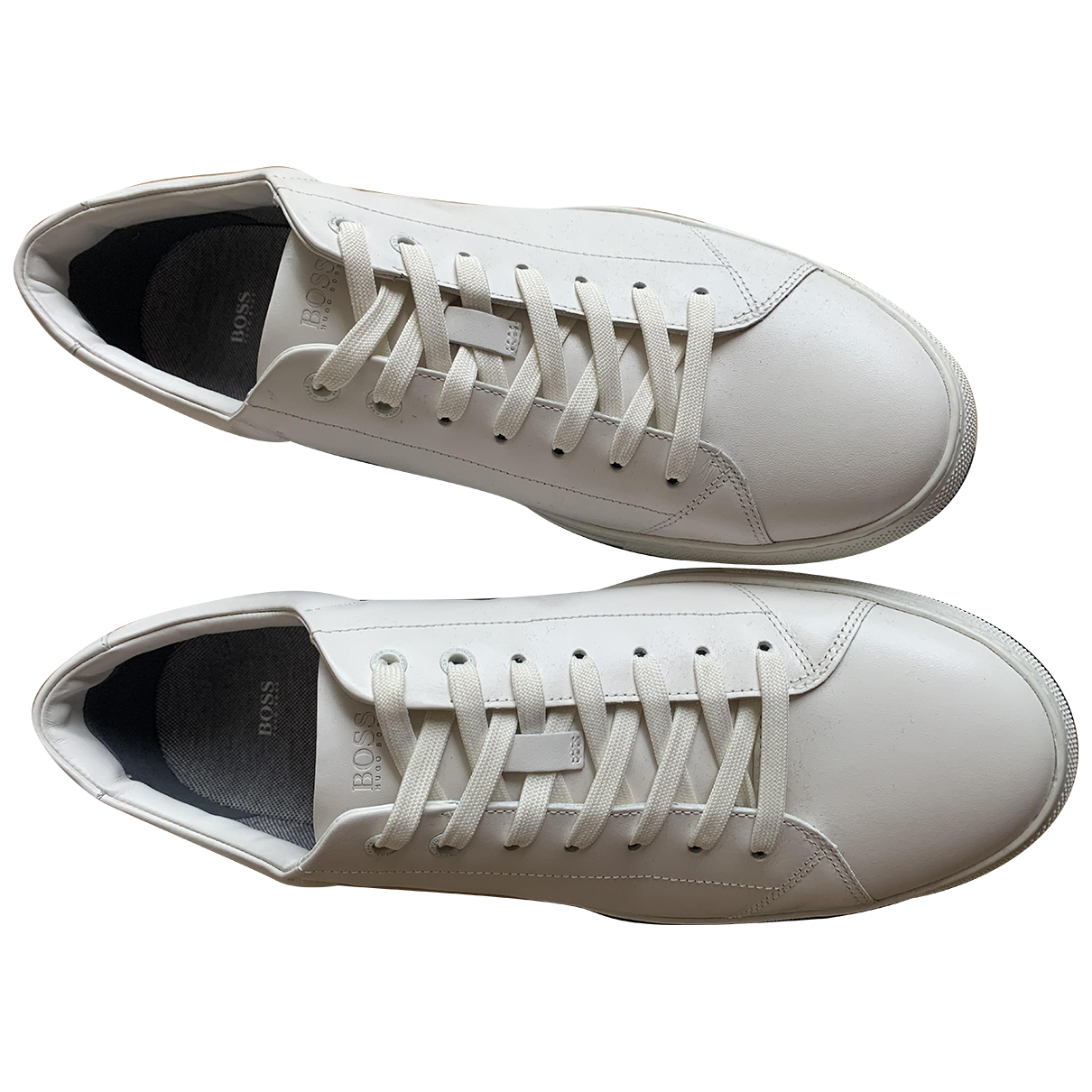 Hugo Boss \N White Leather Trainers for Men 12 UK