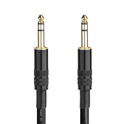 3pi Câble 16AWG séries Premier 1/4pouce (TRS or stéréo) mâle vers mâle (plaqué or) - PrimeCables®