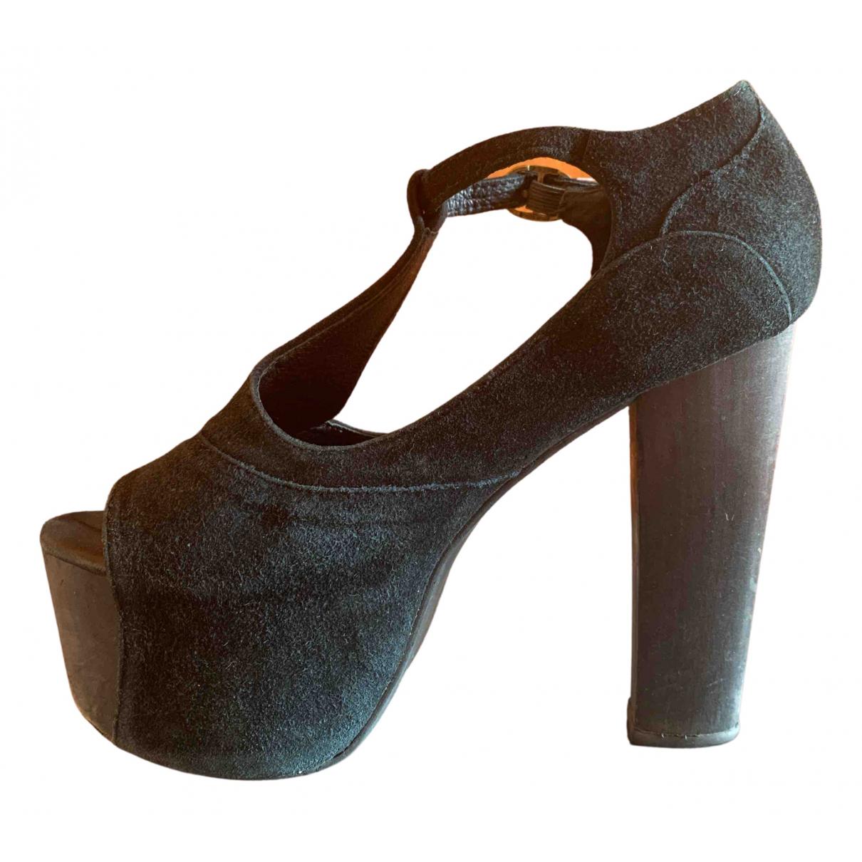 Jeffrey Campbell N Black Suede Heels for Women 36 IT