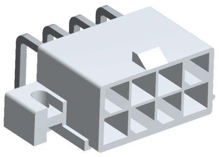 Molex , Mini-Fit Jr, 5569, 8 Way, 2 Row, Right Angle PCB Header (5)