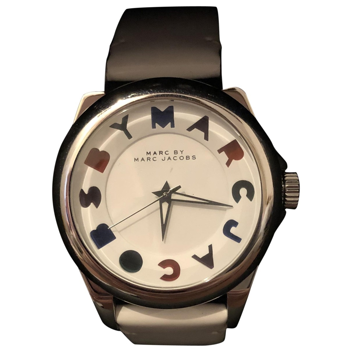 Marc By Marc Jacobs \N Uhr in  Weiss Stahl