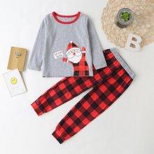 Toddler Girls Christmas Print PJ Set