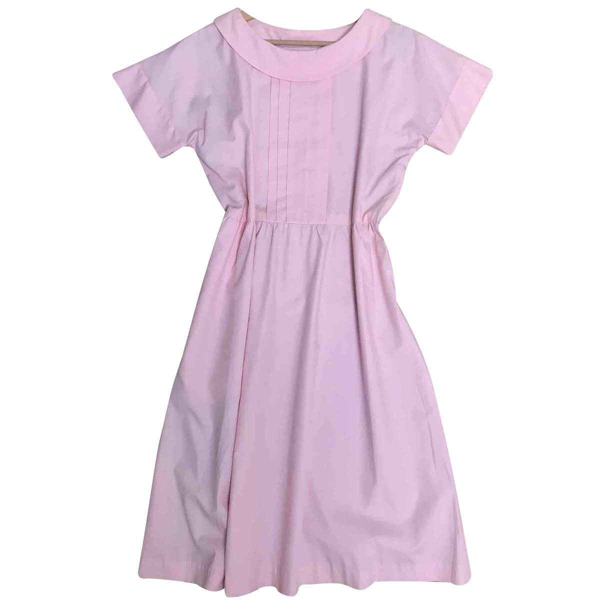 Non Signé / Unsigned \N Pink Cotton dress for Women 44 IT
