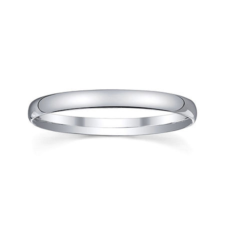 Personalized 2mm Comfort Fit Domed Sterling Silver Wedding Band, 7 , No Color Family
