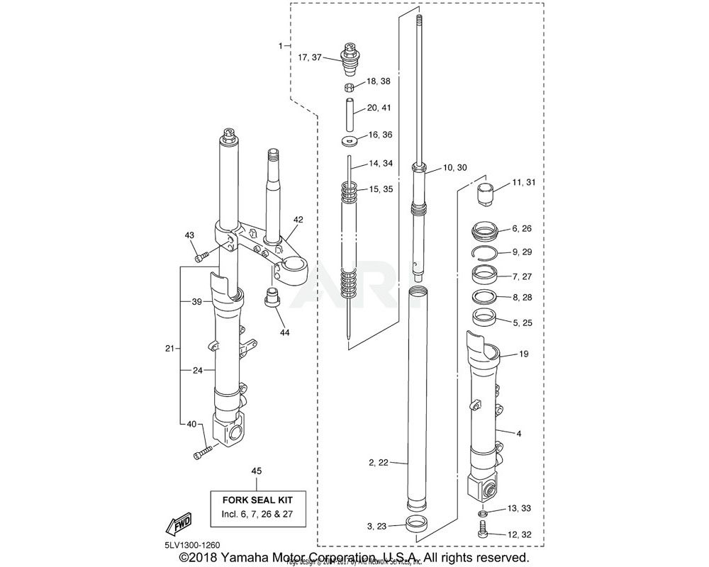 Yamaha OEM 4TX-2331G-00-00 COVER