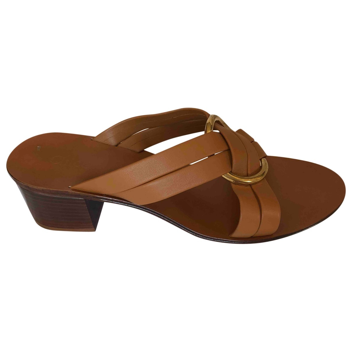 Chloé Rony Brown Leather Sandals for Women 42 EU