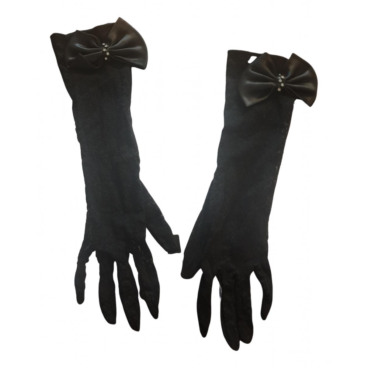 Non Signe / Unsigned Hippie Chic Handschuhe in  Schwarz Baumwolle