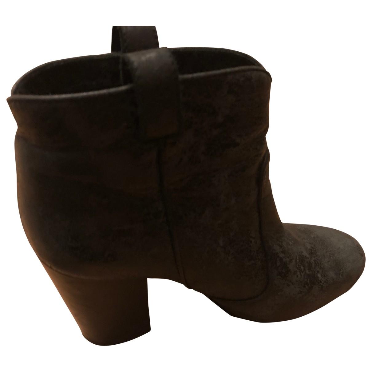 Laurence Dacade - Boots   pour femme en suede - noir
