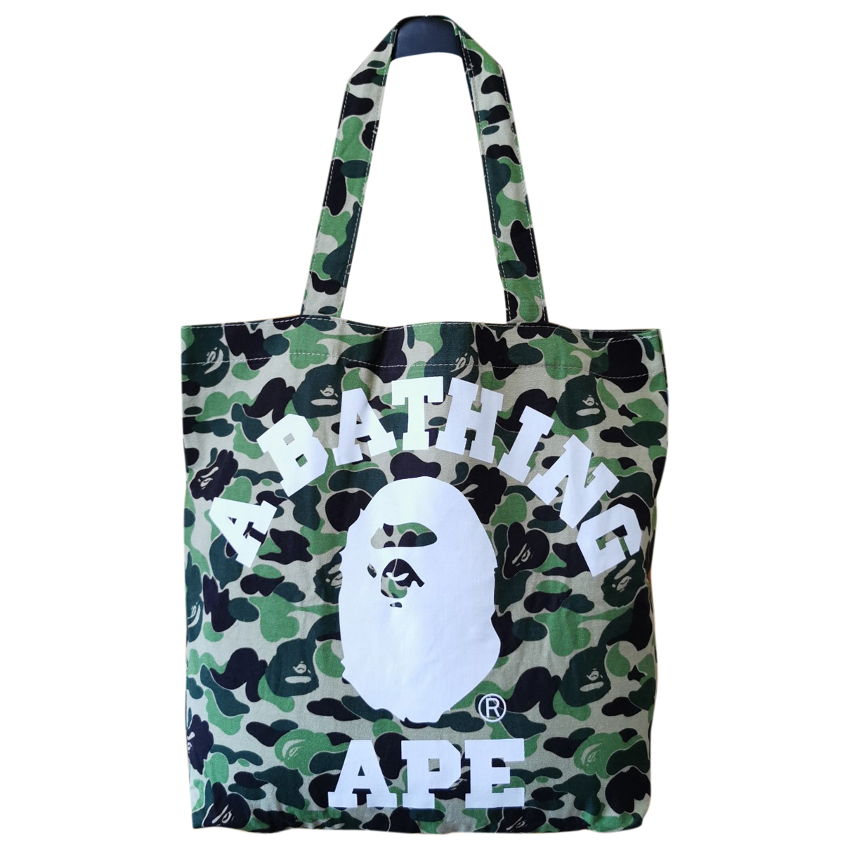 A Bathing Ape N Green Cloth handbag for Women N