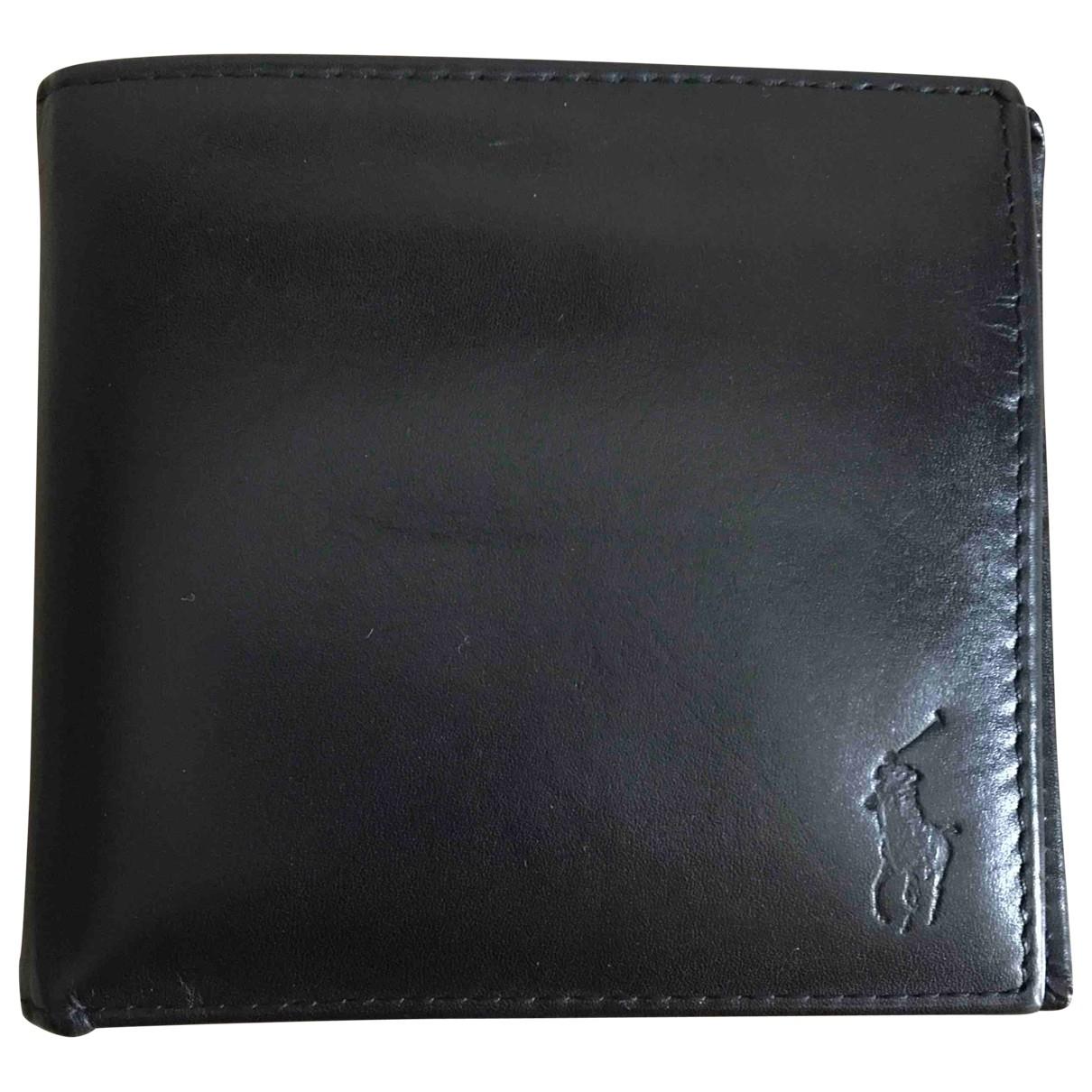 Polo Ralph Lauren \N Kleinlederwaren in  Schwarz Leder