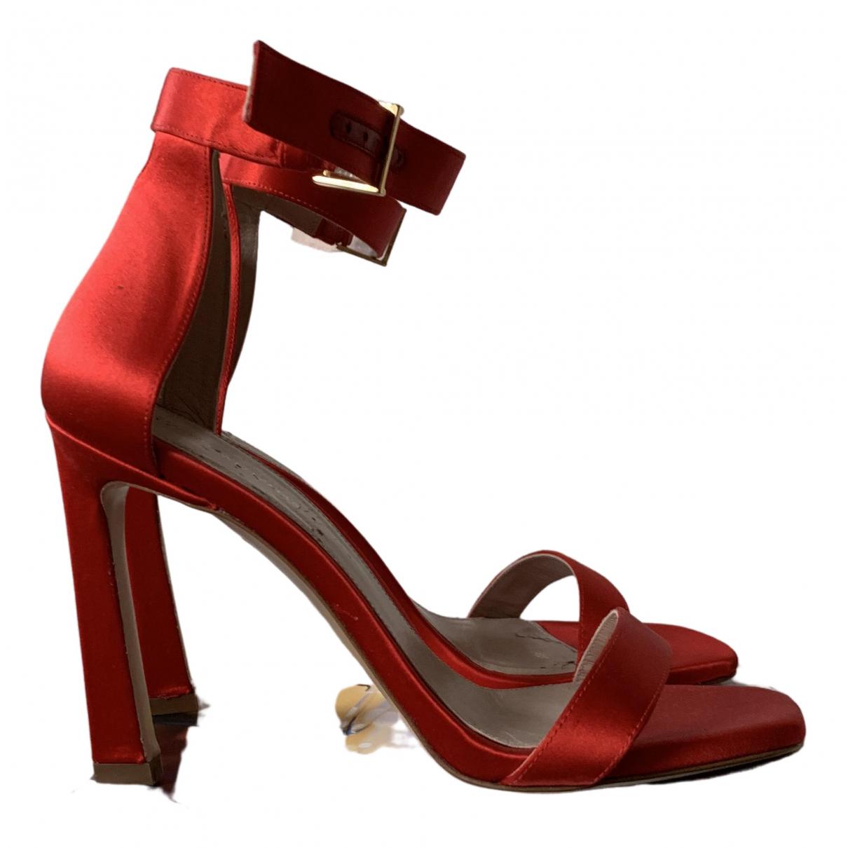 Stuart Weitzman \N Sandalen in  Rot Leinen