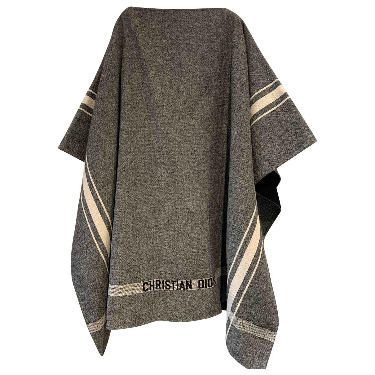 Dior - Manteau   pour femme en laine - gris