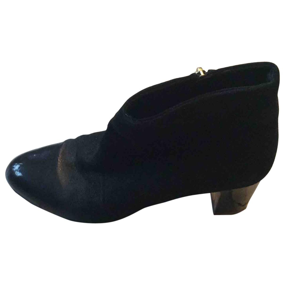 Rupert Sanderson - Boots   pour femme en suede - noir