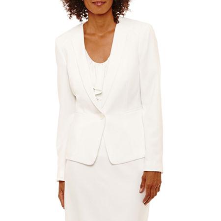 Black Label by Evan-Picone Suit Jacket, 12 , White