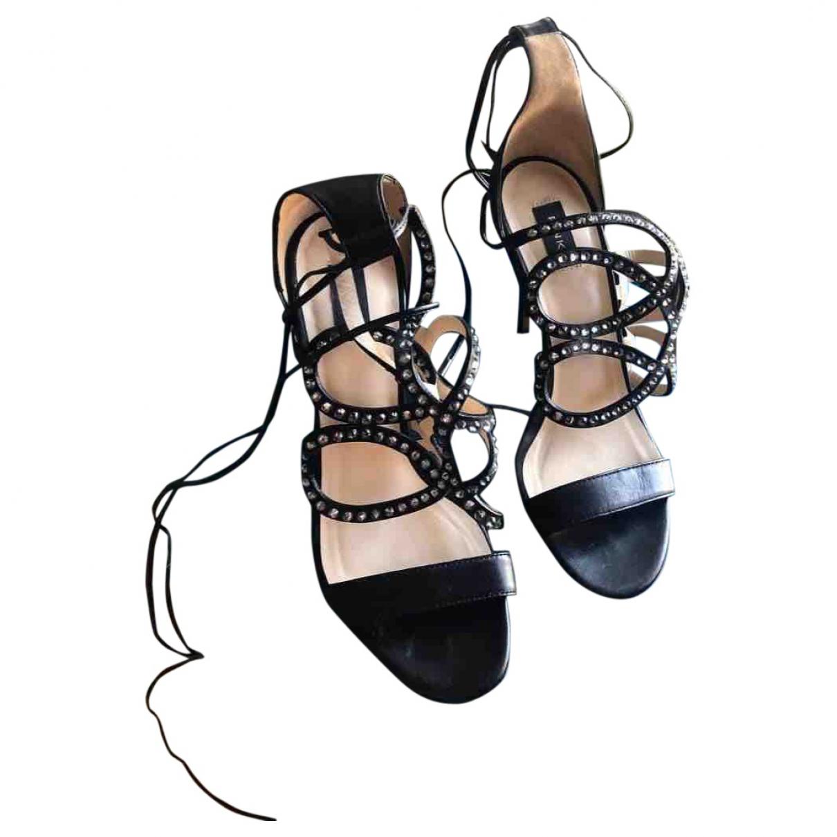 Pinko \N Sandalen in  Schwarz Leder