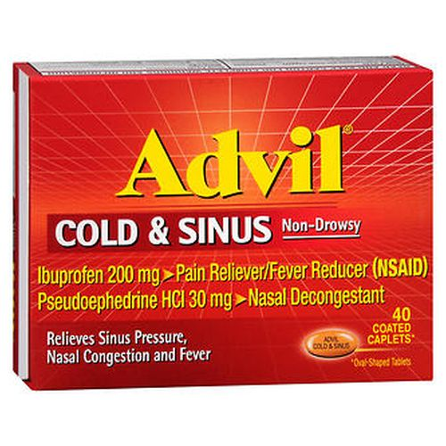 Advil Cold and Sinus Coated Caplets 40 TABS by Advil