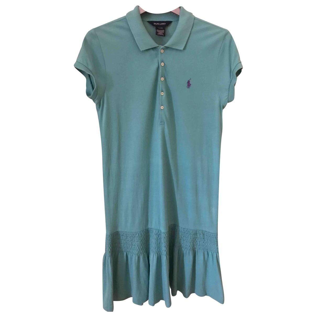 Ralph Lauren - Robe    pour enfant en coton - turquoise