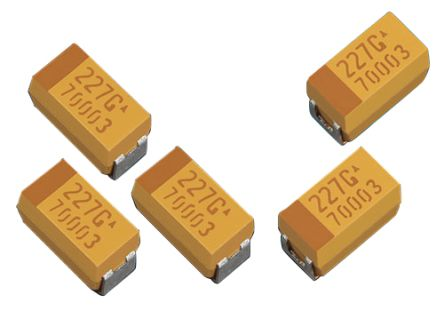 AVX Tantalum Capacitor 100μF 6.3V dc Electrolytic Solid ±20% Tolerance , TLJ (2000)