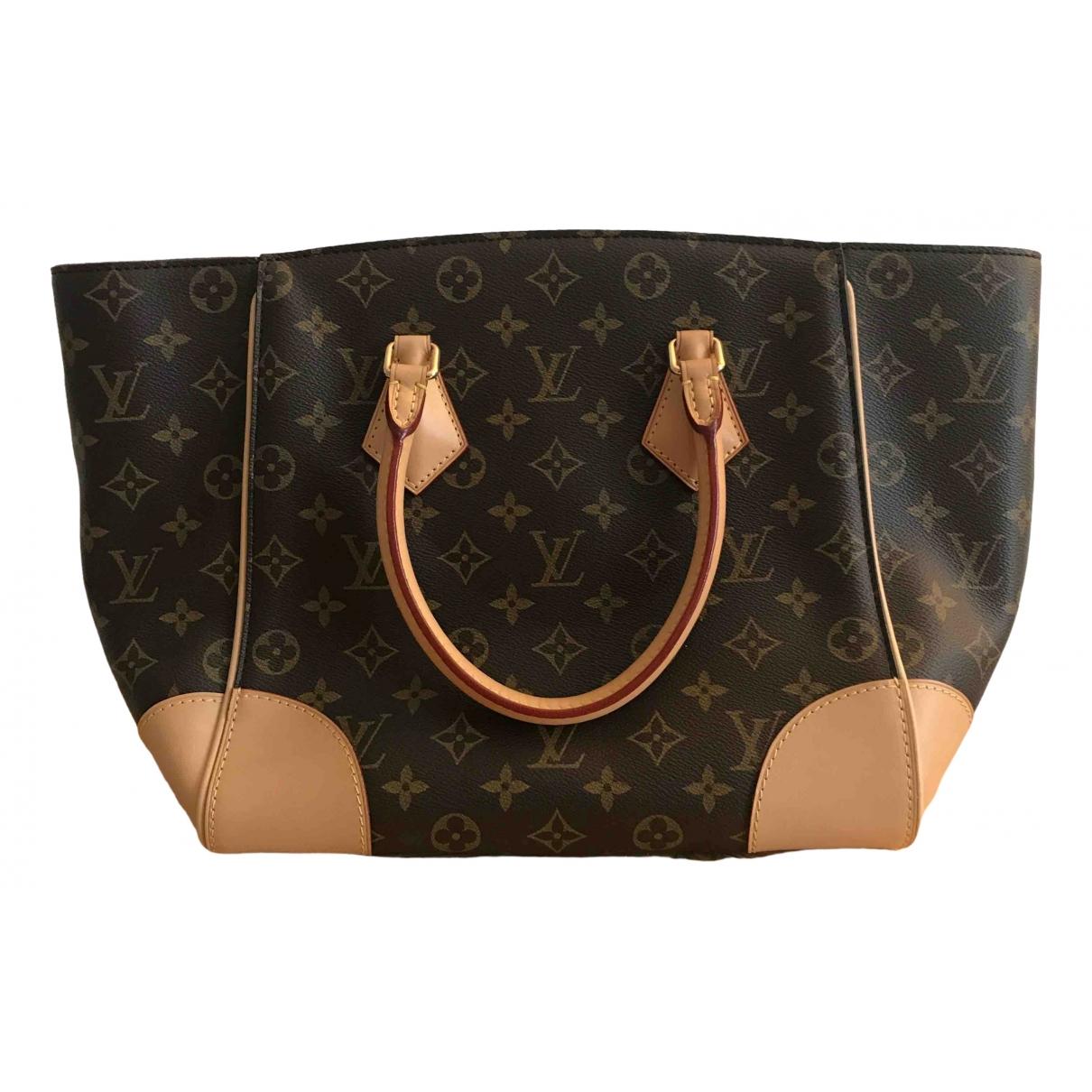 Louis Vuitton - Sac a main Phenix pour femme en toile - camel