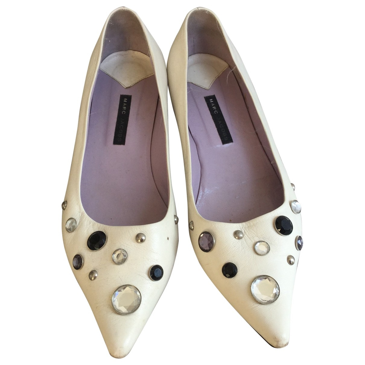Marc Jacobs \N White Leather Flats for Women 40 EU