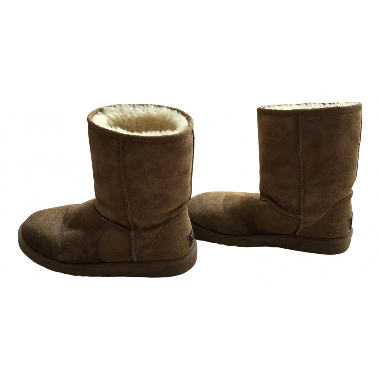 Ugg - Boots   pour femme en fourrure synthetique - camel