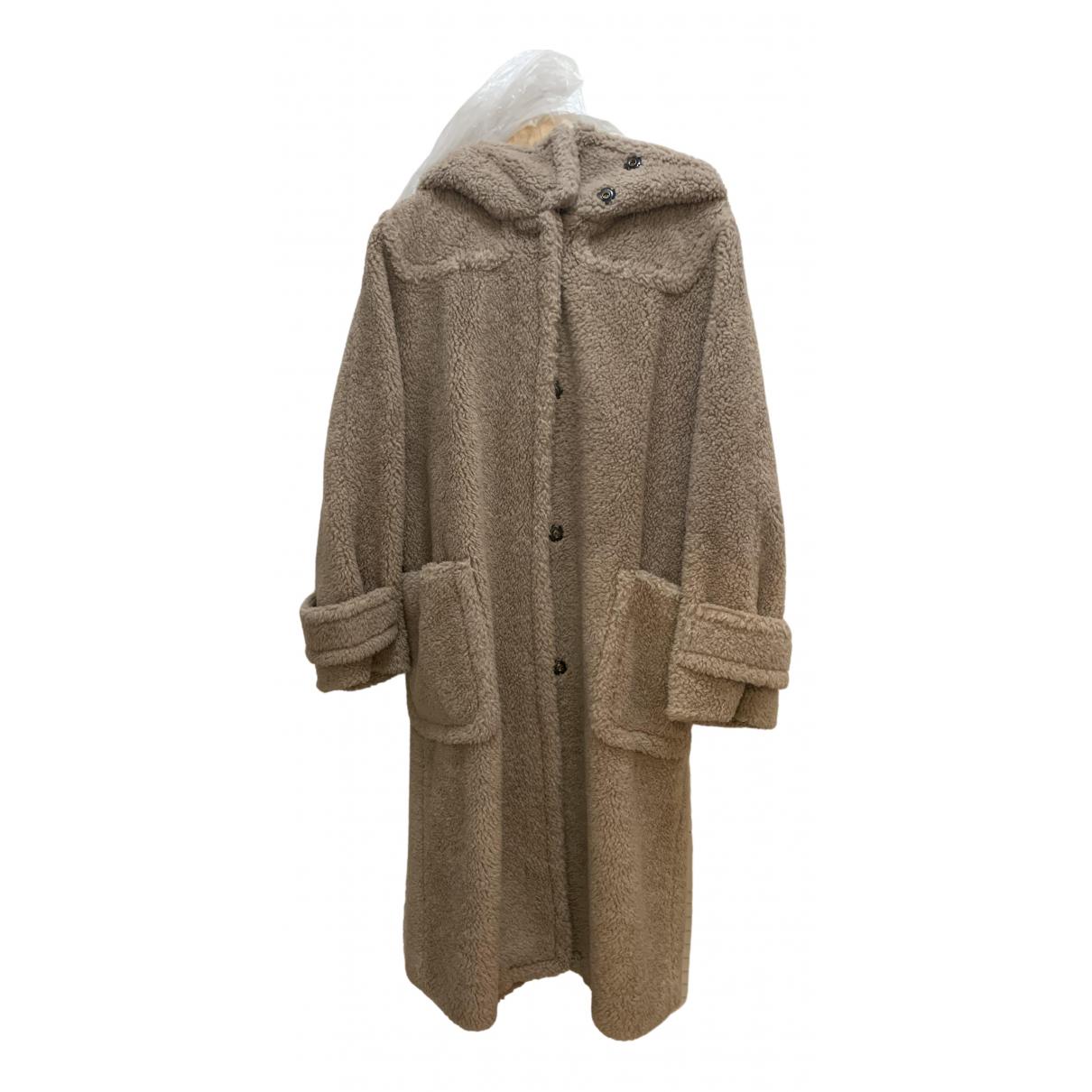 Max Mara Weekend - Manteau   pour femme en fourrure synthetique - camel