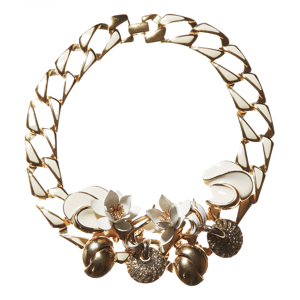 Non Signe / Unsigned  Maille Americaine Kette in  Gold Metall