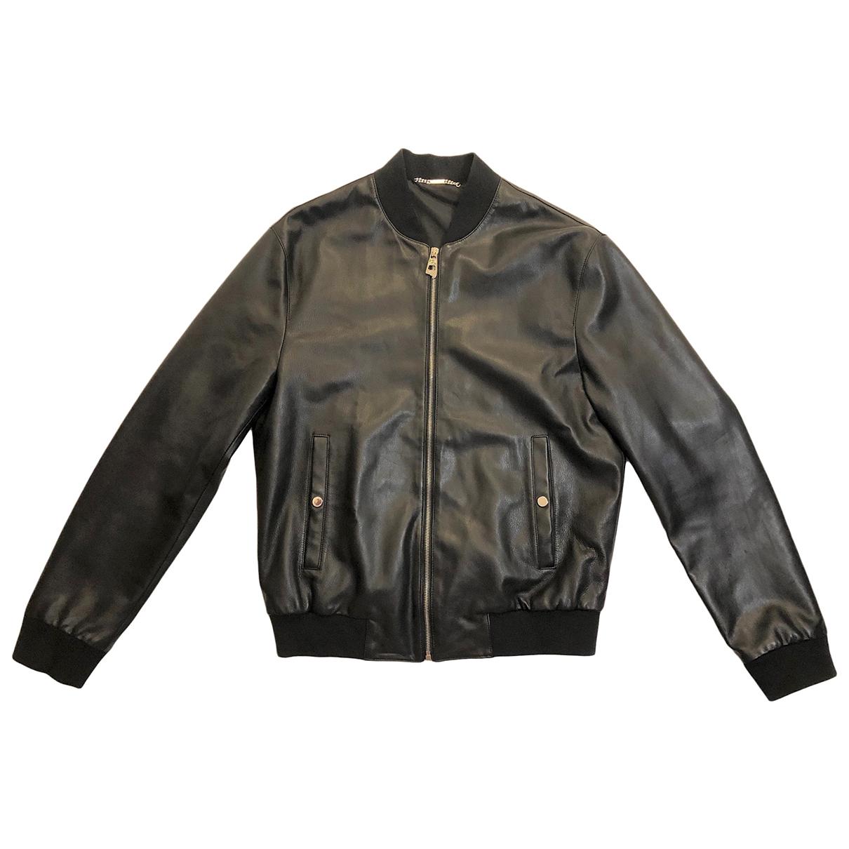 Versace N Black Leather jacket  for Men 50 IT