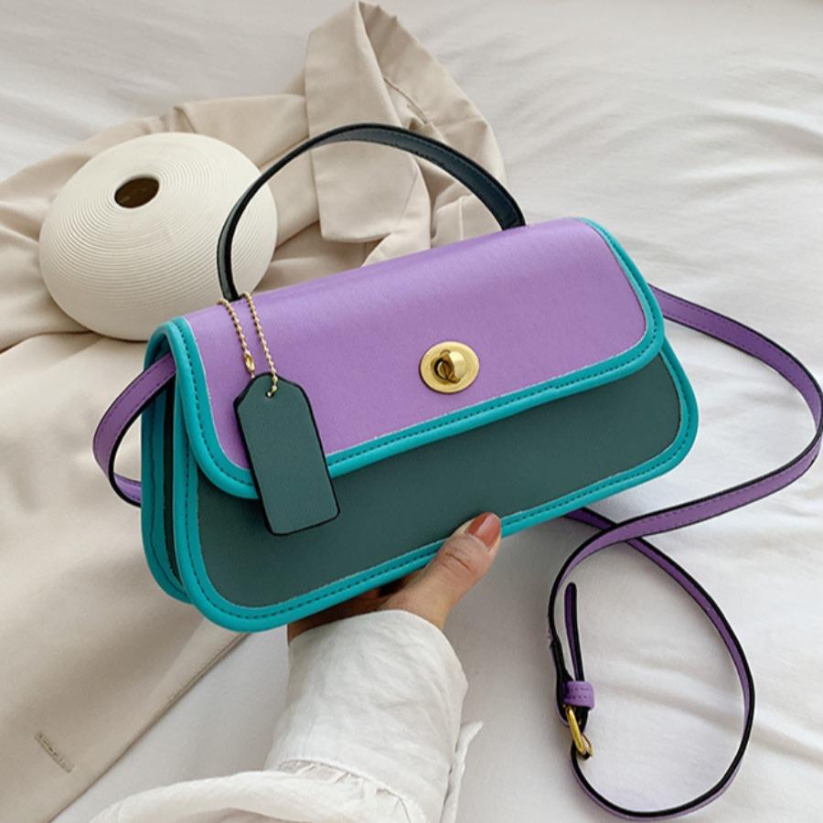 LW lovely Stylish Patchwork Purple Crossbody Bag