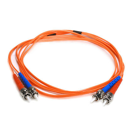 Câble fibre optique, OM1 ST/ST, multi mode, duplex (type 62.5/125) - orange - Monoprice® - 2m