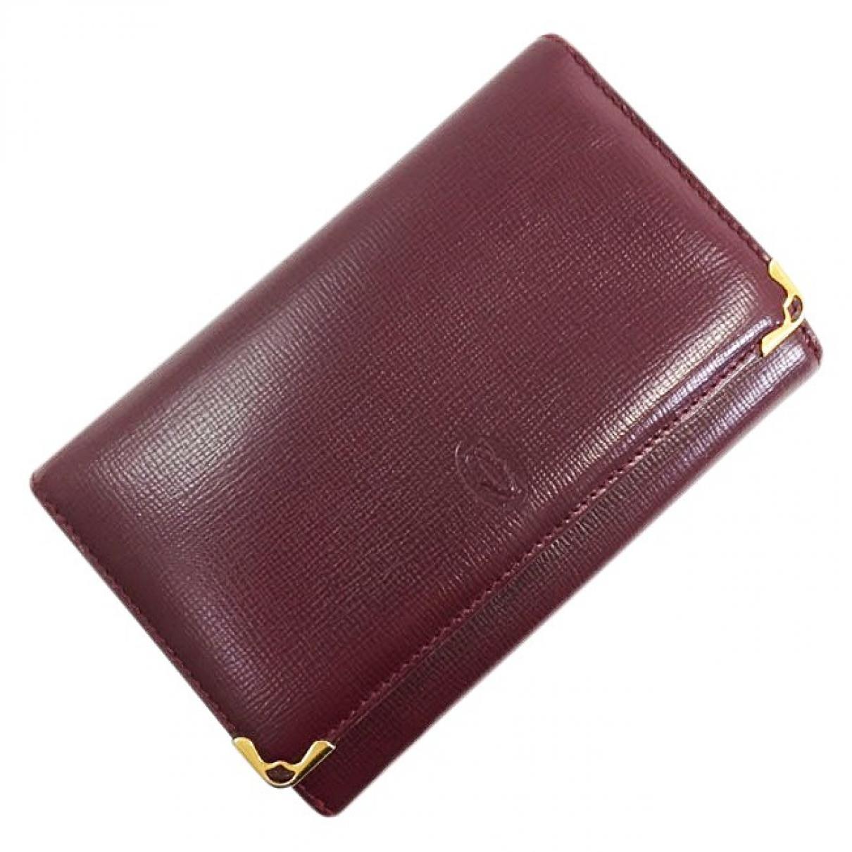 Cartier \N Burgundy Leather wallet for Women \N