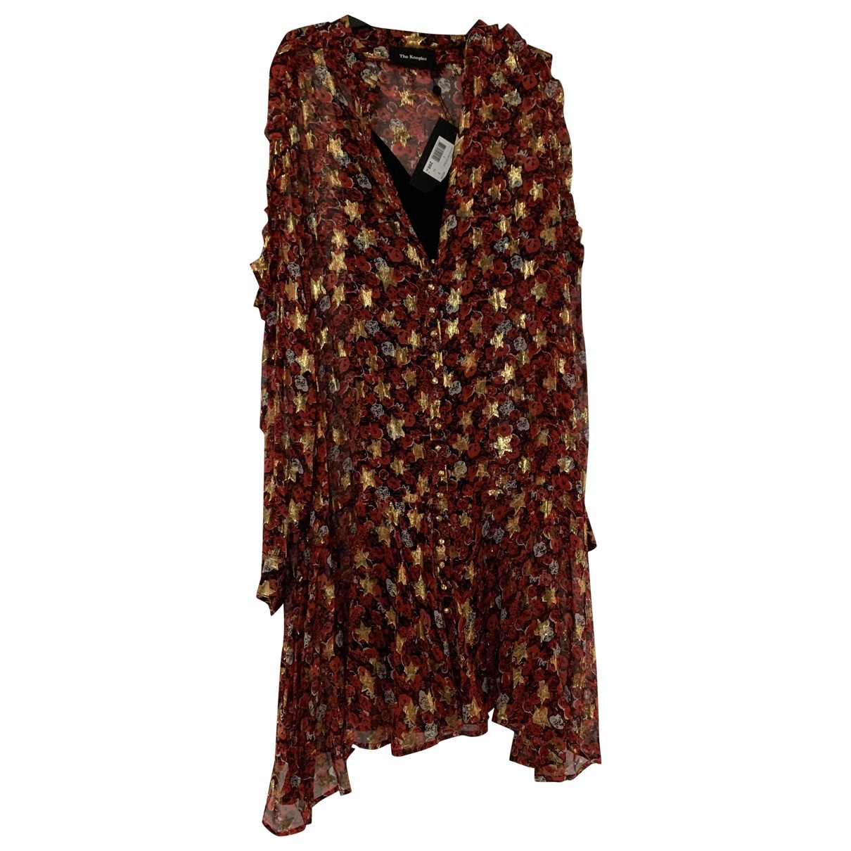 The Kooples - Robe   pour femme en soie - rouge