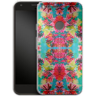 Google Pixel Silikon Handyhuelle - Tropical Floral von Amy Sia