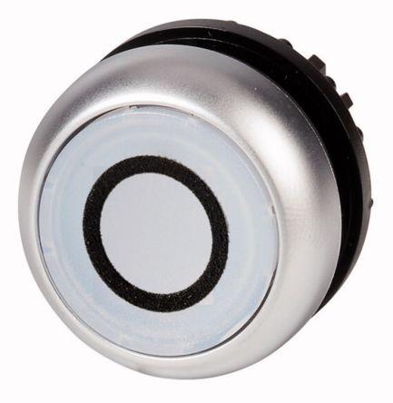 Eaton Flush White Push Button Head - Momentary, M22 Series, 22mm Cutout, Round