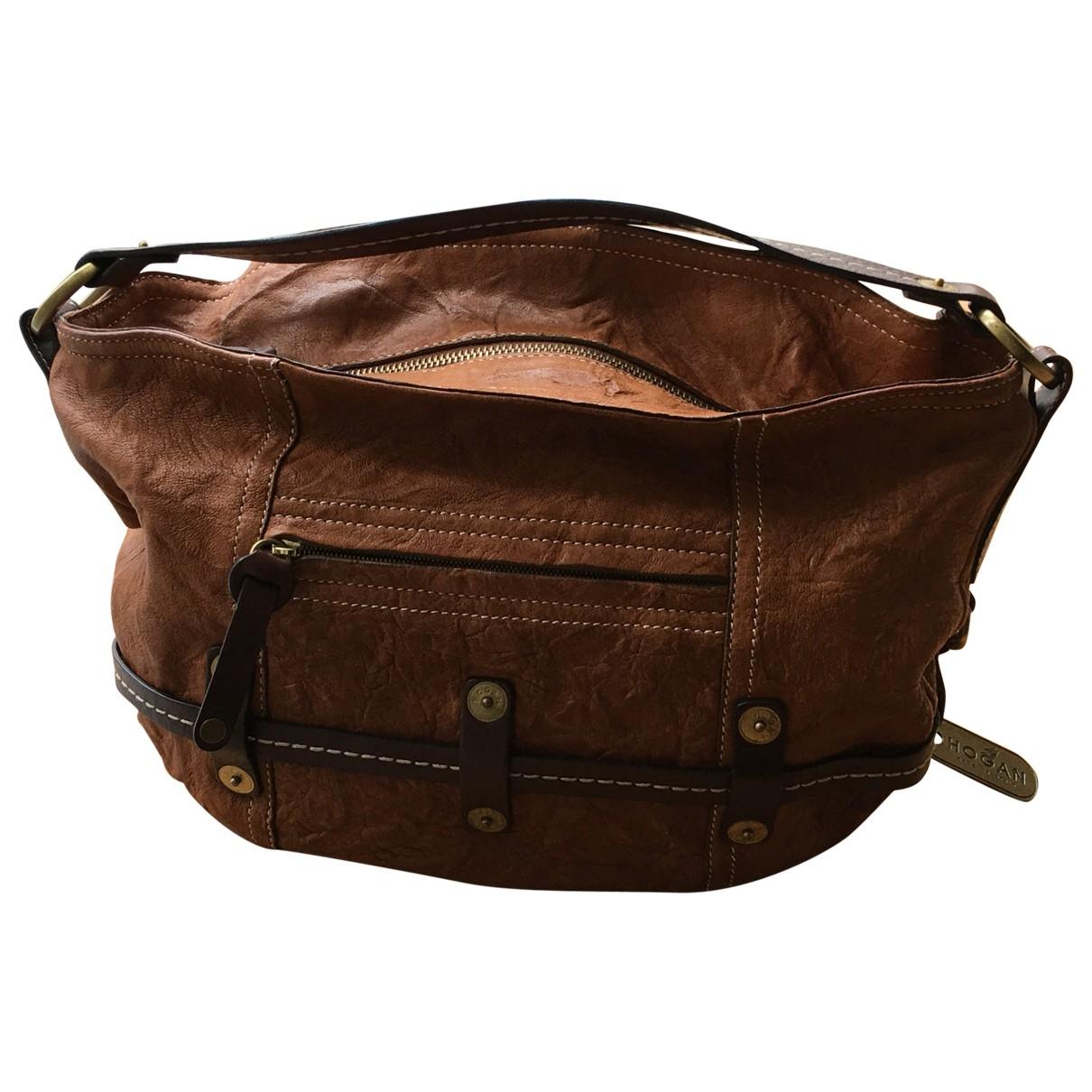 Hogan \N Brown Leather handbag for Women \N