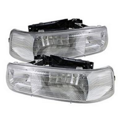 Spyder Auto Group Amber Crystal Headlights (Chrome) - 5064264