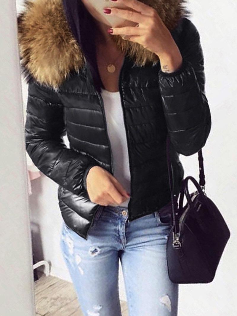 Ericdress Zipper Standard Cotton Padded Jacket