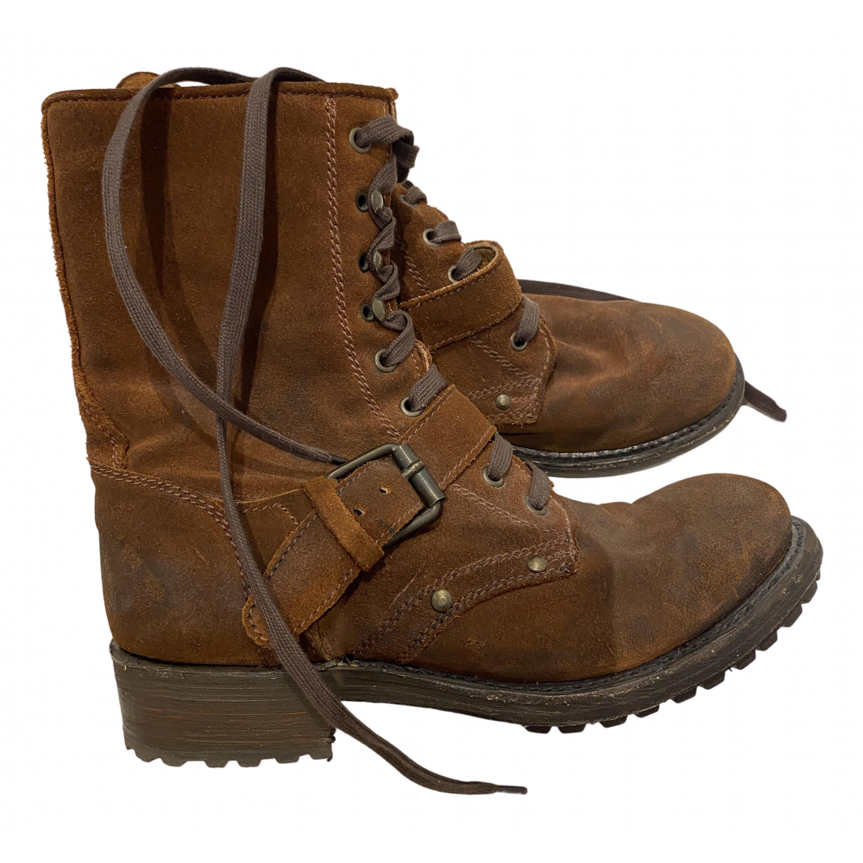 Ash N Brown Suede Boots for Women 38 EU
