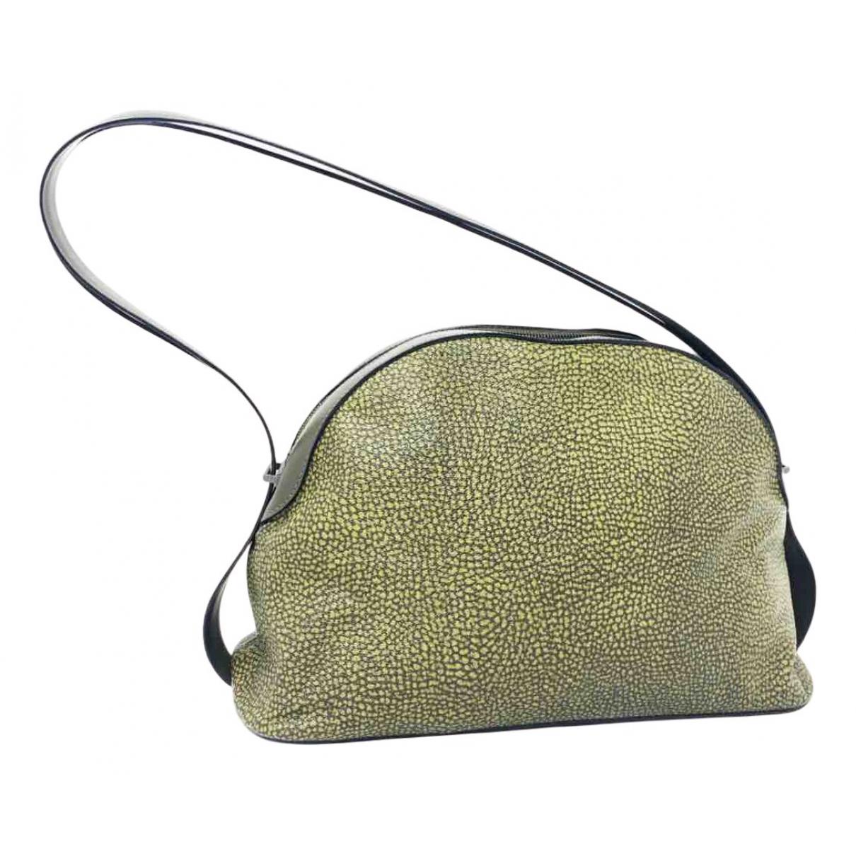 Non Signe / Unsigned \N Handtasche in  Gruen Leder
