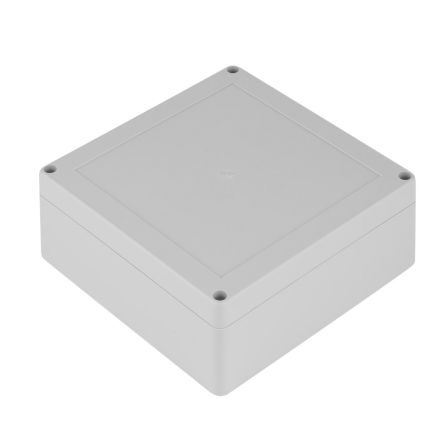 RS PRO Light Grey ABS Enclosure, IK06, IP65, Shielded, 149.85 x 149.85 x 60mm