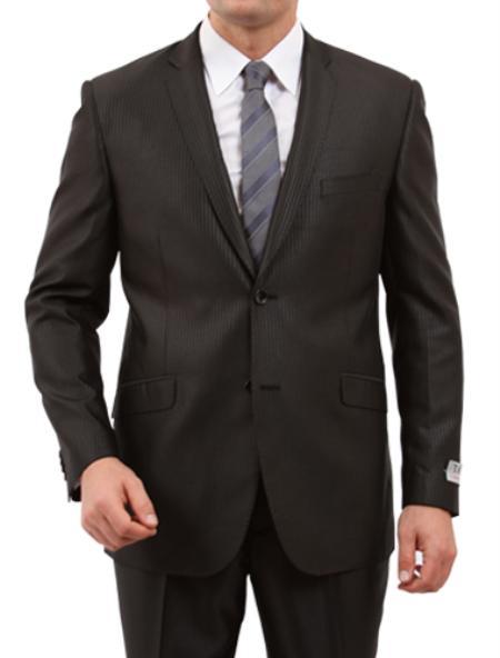 2 Button Black Front Closure Side Vent Suit Mens Cheap