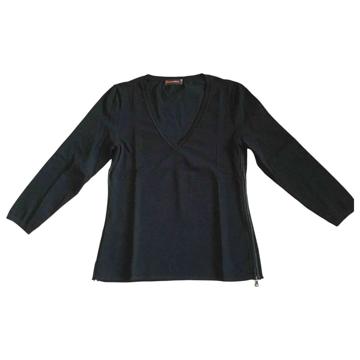 Prada \N Pullover in  Schwarz Viskose