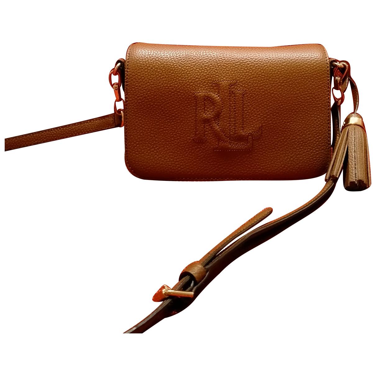 Lauren Ralph Lauren N Camel Leather Clutch bag for Women N