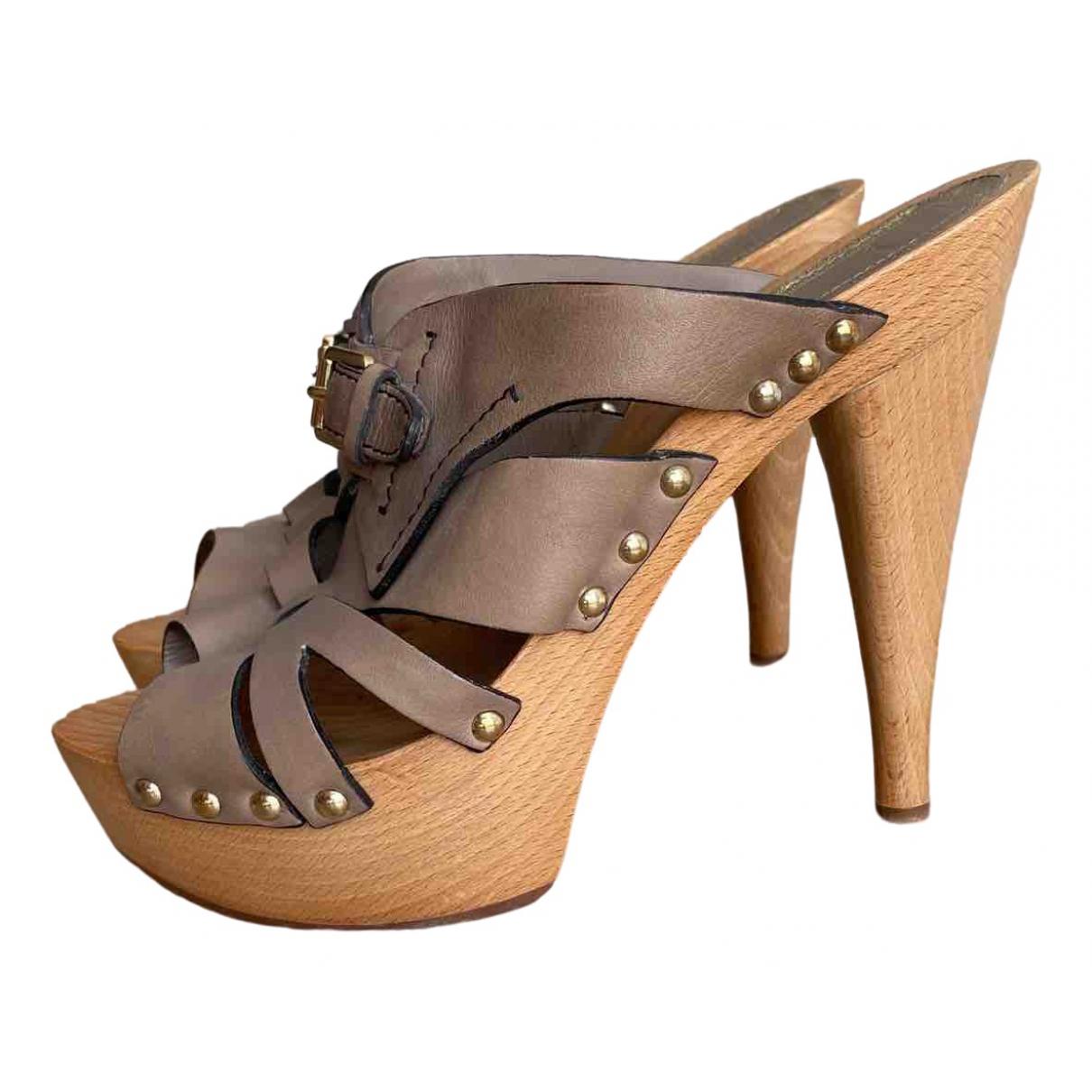 Dior \N Sandalen in  Beige Leder