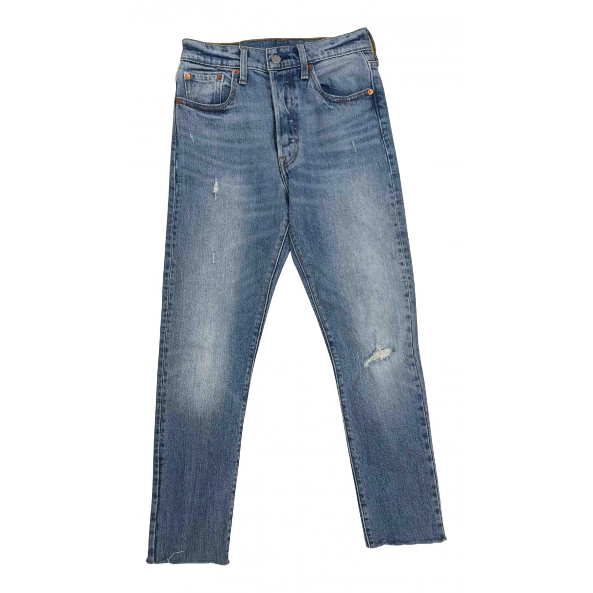 Levi's 501 Blue Cotton Jeans for Women 25 US