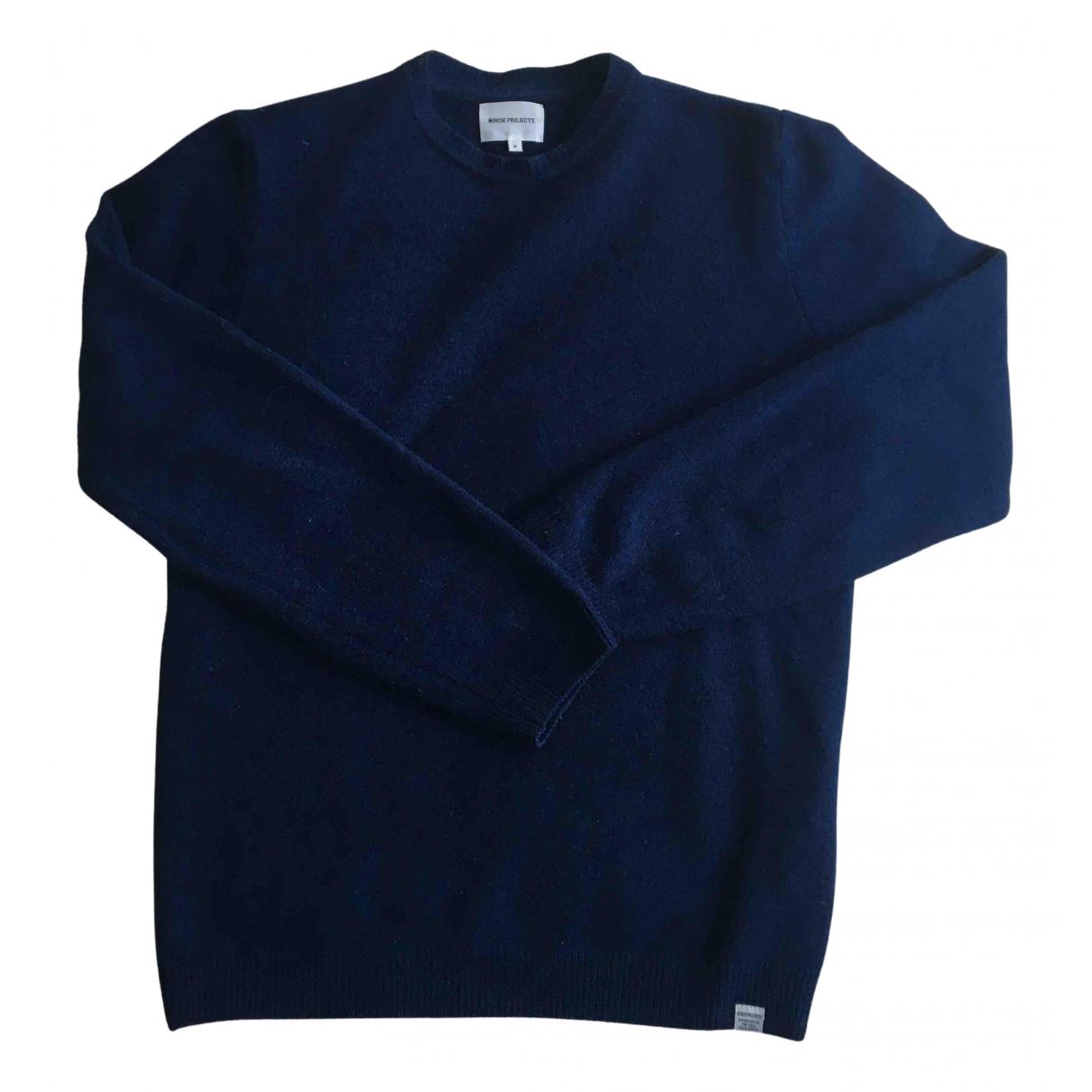 Norse Projects - Pulls.Gilets.Sweats   pour homme en laine - bleu