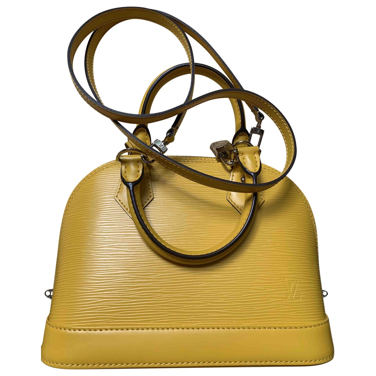 Louis Vuitton Alma BB Yellow Leather handbag for Women \N