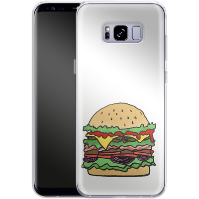 Samsung Galaxy S8 Plus Silikon Handyhuelle - Burger von caseable Designs