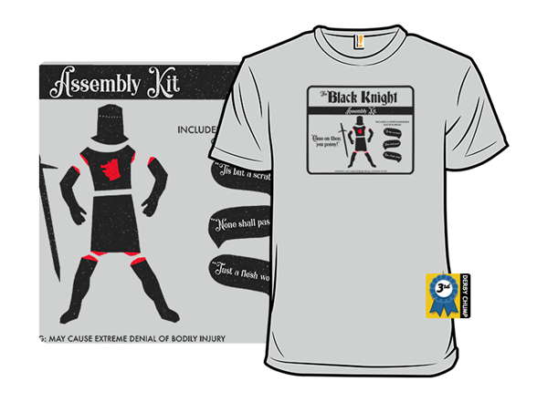 Black Knight Assembly Kit T Shirt